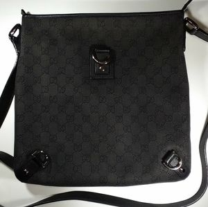 Gucci Abbey Crossbody Messenger Canvas Bag